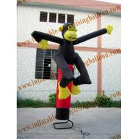 Cheap Custom Inflatable Air Dancer / Sky Dancer Inflatable Monkey Shaped Of Promotion for sale