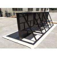 Best Concert Crowd Control Barriers Black Surface With 40x50x2mm Square Tube wholesale