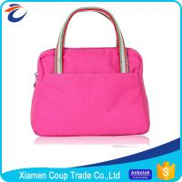 Buy cheap Canvas Womens Tote Bags Romantic Pink Color Suitable For Promotional Gift from wholesalers