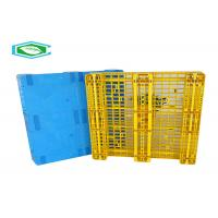 China Rackable Single Faced Pallets Heavy Duty Nestable Pallets With 8 Steel Tubes on sale