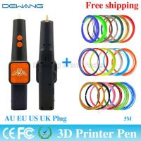 Best Orange 3d plastic pen Painting Tools For Drawing With 20 Color 5m ABS Filament wholesale