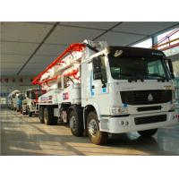 Sinotruk Howo 8x4 Concrete Pump Truck Euro 2 With 5000mm Wheelbase
