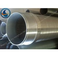 Buy cheap Water Treatment Stainless Steel Well Pipe / Wedge Wire Screen Cylinders from wholesalers