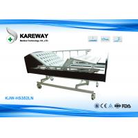 China Three Cranks Manual Hospital Bed , Convenient Home Care Bed Lift Fall Flexibly on sale