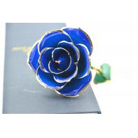 Best Dark Blue 24k Gold Rose 30*6cm , Real 24K Gold Dipped Rose Valentine's Day Gifts wholesale