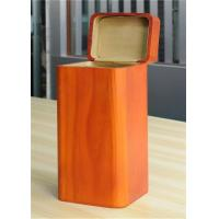 Best Handmade Wood Jewelry Boxes For Women Large Storage Case , Orange Color wholesale