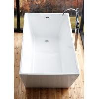 Best Reinforced 5 Foot Soaker Tub , Corner Freestanding Tub With Faucet Holes wholesale