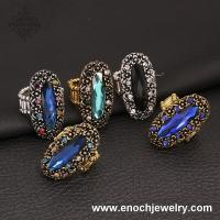 Best Exquisite Bridal Tribe Style Crystal Luxury Rings For Women&Men wholesale
