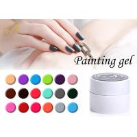Best Colorful Nail Art Gel Paint / No Chemical Nail Polish European Standard wholesale