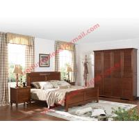 Best English Country Style Solid Wood Bed in Wooden Bedroom Furniture sets wholesale