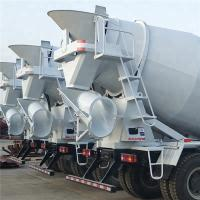 Best White Concrete Mixer Vehicle / Truck Mounted Concrete Mixers 4 M³ Capacity wholesale