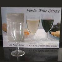 China 8oz Disposable Plastic Wine Glass, Designed for Parties, Bars, and Banquet Usage on sale