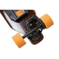 Best Small Orange Wheel Brushless Hub Motor Skateboard , Remote Powered Skateboard wholesale