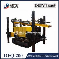 Best Defy DFQ-200 Hydraulic DTH Hammer Shallow Water Well Bore Hole Drilling Machine Price wholesale