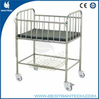 Details of stainless steel hospital infant bed baby crib for Baby bed with wheels