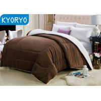 China Brown Warm Winter Blankets Double-faced Fleece Blankets for Winter on sale