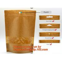 Best Foil Kraft Paper Bag Coconut Packaging Bags Doypack with Clear Window,500g 1kg 16oz Ziplock Food Packaging Bag Customize wholesale