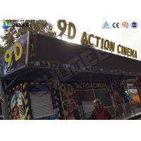 Best Metal Flat Screen 9D Movie Theater , Truck Mobile Cinema Private Customized wholesale