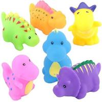 Best Soft Floating Dinosaur Rubber Bath Toys Phthalate Free For Tub / Pool / Beach wholesale