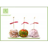 Best Healthy Cake Ball Sticks 150 X 3.0mm , Logo Printed Personalized Wooden Candy Sticks wholesale