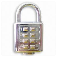 Cheap Digital Padlock (With 8 Digits), Private Labels Acceptable for Large Quantity for sale