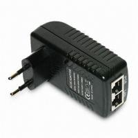 Best Wall Mounted 48V 0.5A POE Adapter EU / US / plug 24W AC Power Adapter RJ45 wholesale