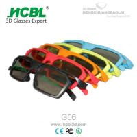 ABS Frame Circular Polarized 3d Glasses With Side By Side Cine Lens 150* 45* 152 MM