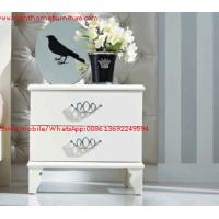 Best Ivory Classic Bed side table with wooden drawers for Nightstand design used by Hotel and Villa Furniture wholesale