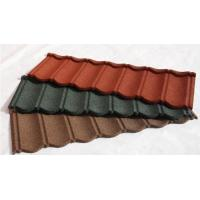 Best Wood Shingle Materials Stone Coated Metal Roof Tiles , Galvanized Stone Coated Tile wholesale