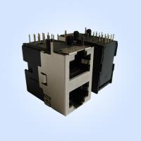 Best Side Entry Stacked RJ45 Modular Jack Half Shielded 8P8C Shielded 2*1 Multi-Ports wholesale