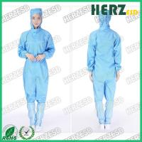 China Customized Color ESD Protective Clothing Turn Down / Stand Collar Type Size S-XXL on sale