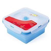 China FDA LFGB silicone lunch box , silicone folding bowl, microwave safe food container to keep food fresh on sale