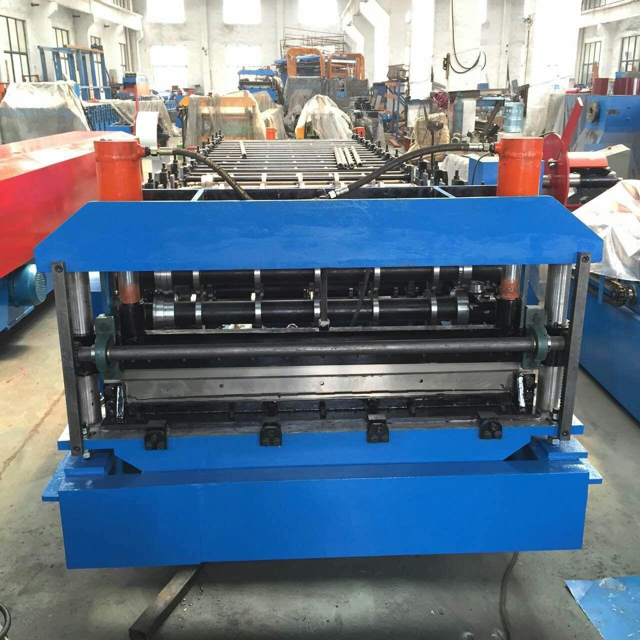 Quality Combo Roof Sheet Roll Forming Machine for PUF Panel Bottom Sheet and Top Sheet wholesale