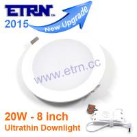 Best ETRN Brand 8 inch 20W ultrathin LED Downlights Ceiling Lights Recessed Wall light wholesale