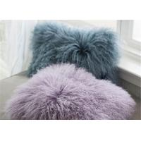 Cheap Tibetan Sheepskin Sofa Pillow Covers 10-15cm Long Curly Hair For Bed / Sofa / for sale