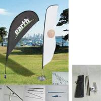 China 50.8W x 157.5H outdoor feather banners /  Promotion Feather Flag and teardrop on sale