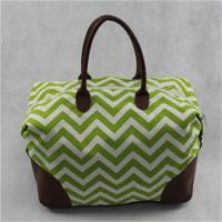Best Durable Custom Made Canvas Bags / Canvas Travel Tote Bag With Zipper , PU Bottom wholesale