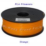 Best Orange 1kg pla filament 3d printing materials 1.75mm 3.00mm wholesale