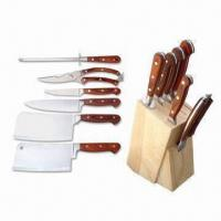 Best 7 Pieces Pakka Wood Handle Knives, Stainless Steel for Knives Blades wholesale
