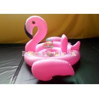 Best Pink Flamingo Inflatable Pool Floats Strong PVC Custom Metal Frame wholesale