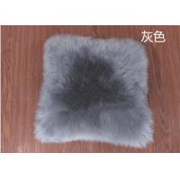 Best Square Long Fluffy Lambswool Seat Cushion Comfortable For Car Back Seat wholesale