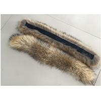 Best Natural Colour Warm Raccoon Fur Collar Eco Friendly For Hood Kids Parka wholesale