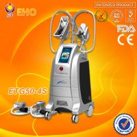 Best 4 cryo handles/hot and cool therapy/ 2 handle can work togther cryolipolysis fat freezing liposuction machine wholesale