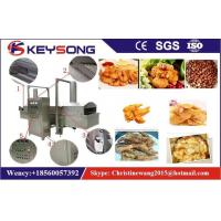 China Industrial Continuous Belt Food Frying Machine 380v 57KW For Burgle Chips on sale
