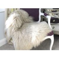 Best Beige 45 *72 Inches Mongolian Sheepskin Rug Lightweight Hypoallergenic For Home Textile wholesale