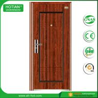 Best front steel doors, iron gate main wood carving design steel security door wholesale