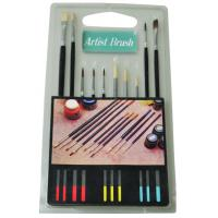 Best Fine Artist Painting Brushes Set 15pcs Or 10pcs Wooden / Plastic Handle wholesale