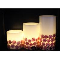 Best Decorative Halloween Pillar Candles , Halloween Battery Candles HL-007 wholesale