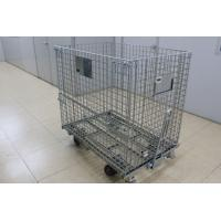 Best 1200mm Folding Steel Wire Containers Industrial Wire Baskets For Storage wholesale