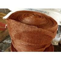 Best Standard SP Copper Knitted Wire Mesh For Corrosion Resistant Filter Pad wholesale